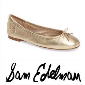 💕SALE💕 Sam Edelman Gold Ballet Flats